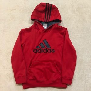 Adidas Red Kids Hoodie, Size 8
